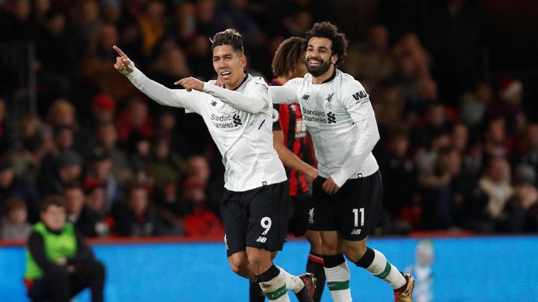 Liverpool Bungkam Bournemouth 4-0
