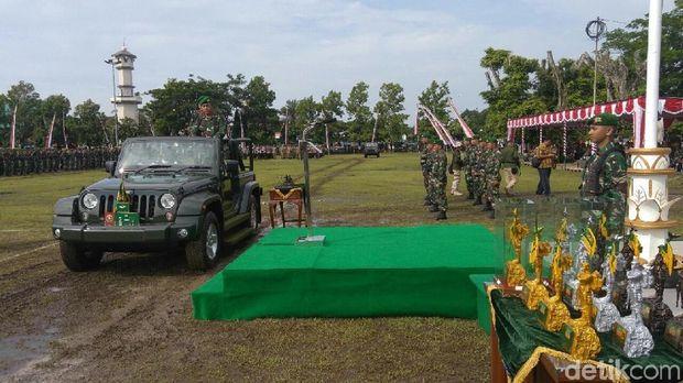 TNI AD Gelar Upacara HUT Infanteri di Kutoarjo