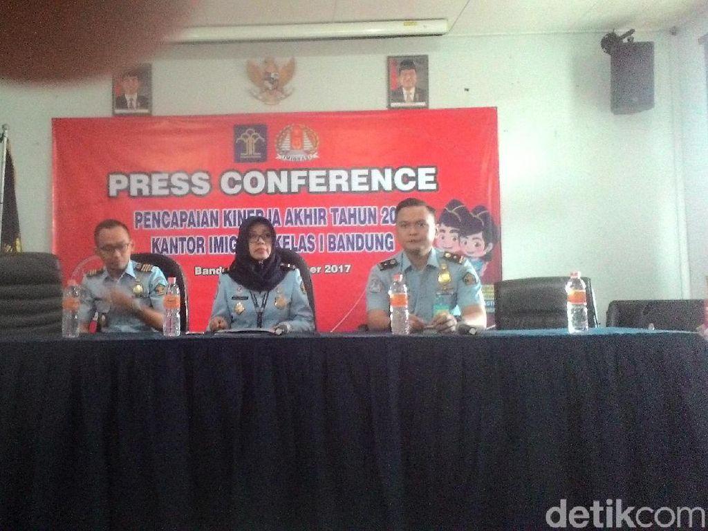 72 WNA di Bandung Dideportasi Sepanjang 2017