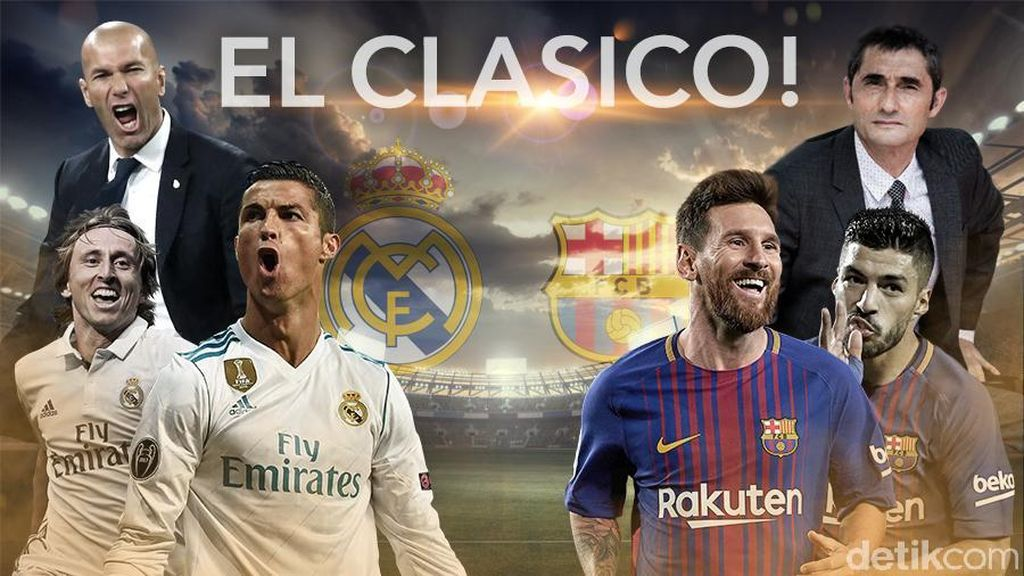 Adu Gengsi Real Madrid vs Barcelona di El Clasico!