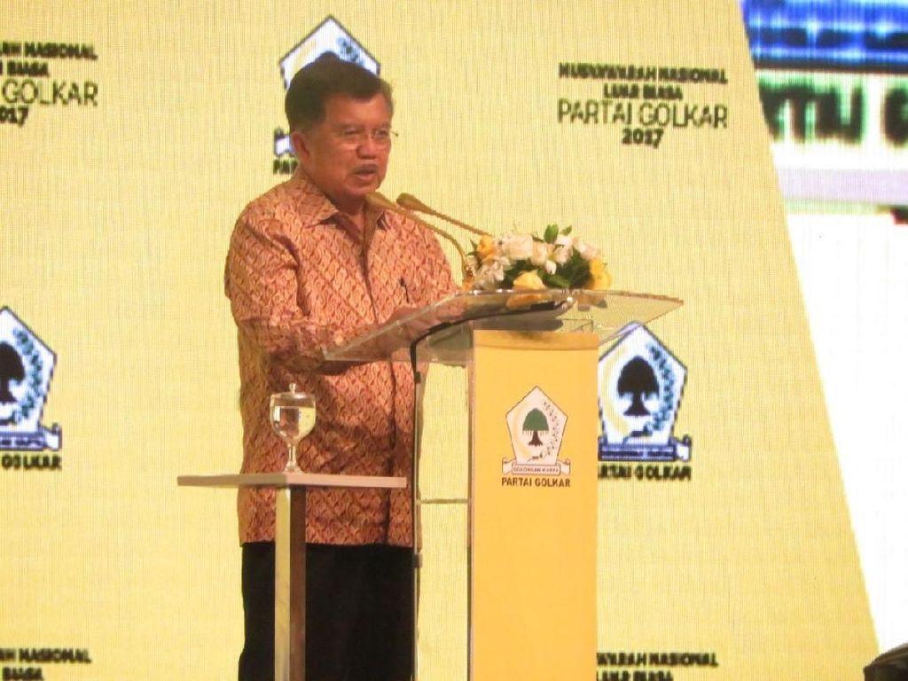Tutup Munaslub, JK Ingatkan Tugas Golkar ke Rakyat