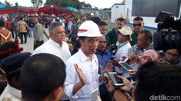 Presiden Jokowi resmikan pembangkit listrik di Nabire