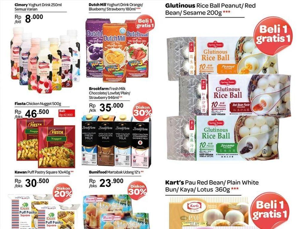 Serba Gratis Produk Bahan Makanan di Transmart Carrefour