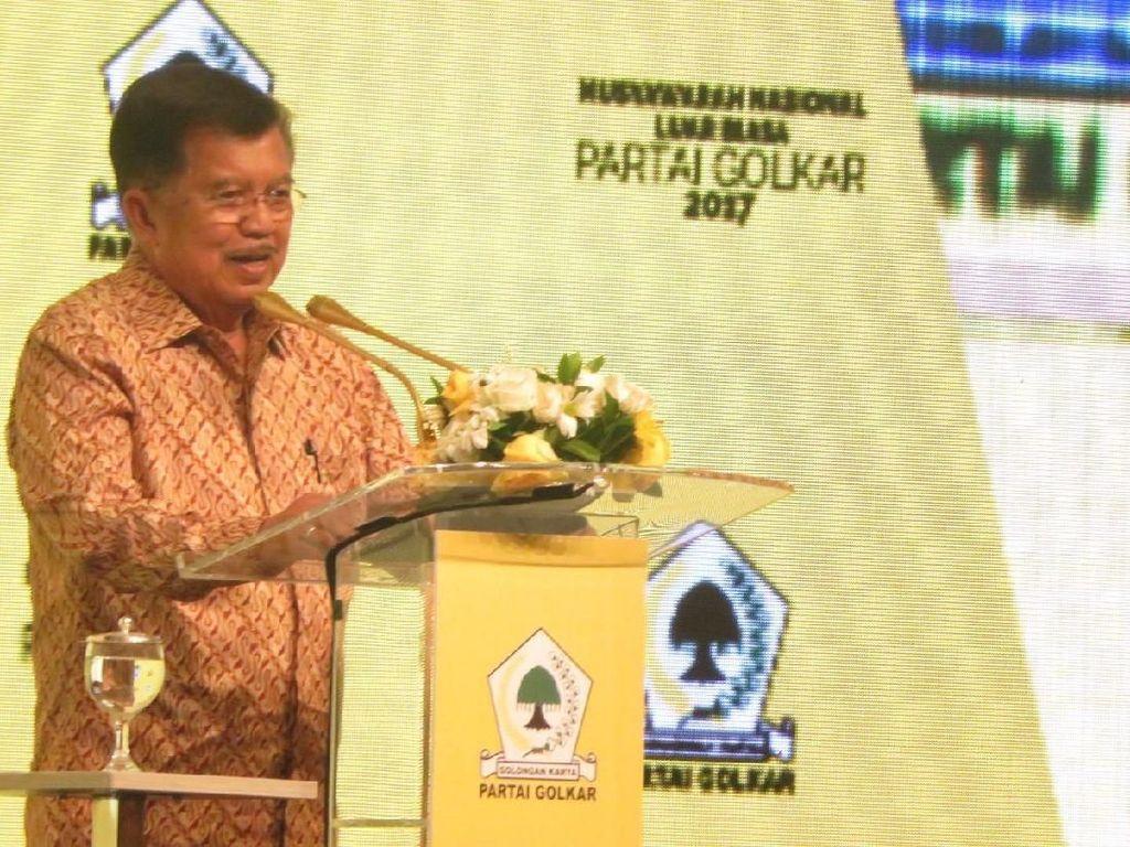 JK Bicara Falsafah Golkar: Selalu Berada di Pemerintahan