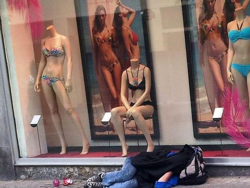Tunawisma di Frankfurt Harus Bayar Denda Kalau Tidur Sembarangan