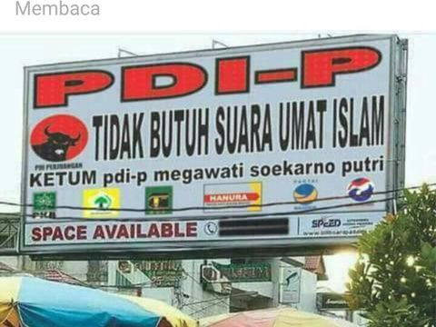 Unggahan 'baliho' hoax soal PDIP di Facebook Rin