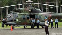Helikopter TNI Hilir Mudik di Langit Jakarta Jelang Pelantikan Presiden