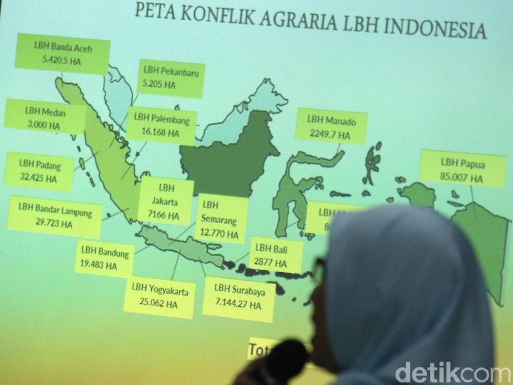 Catatan Akhir Tahun YLBHI, Konflik Agraria Tertinggi