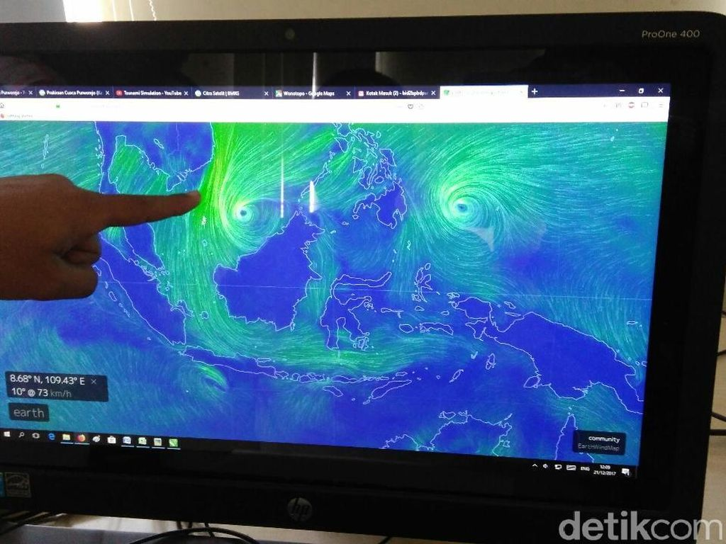 Siklon Penny Bikin Curah Hujan Tinggi di Indonesia