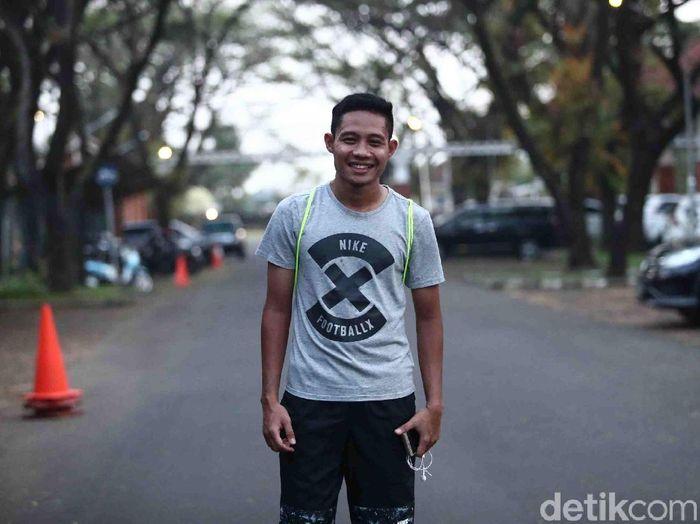 Pemain timnas Indonesia yang merumput di Selangor FA, Evan Dimas. (Foto: Grandyos Zafna/detikSport)