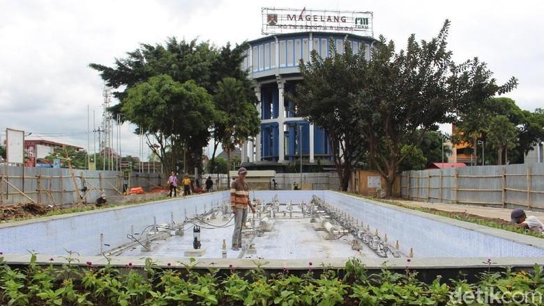 Foto: Air mancur menari siap menghibur wisatawan di Magelang (Pertiwi/detikTravel)