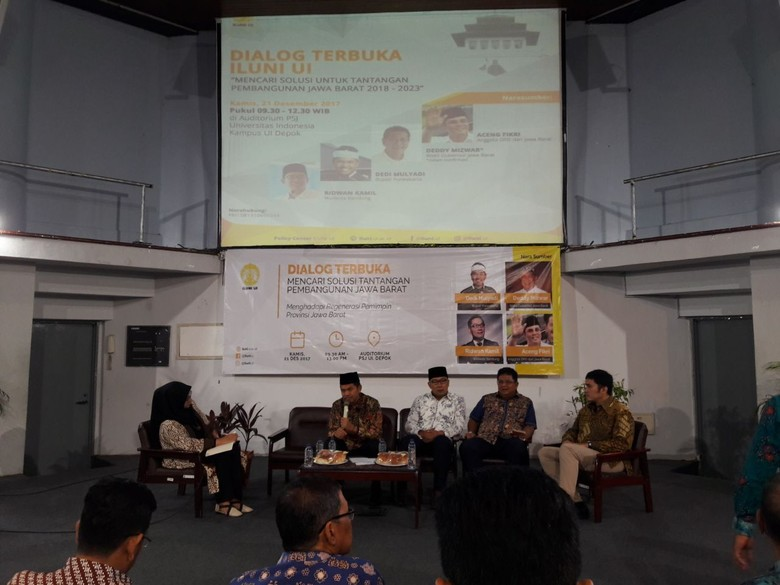 Ridwan Kamil Datang, Dedi Mulyadi Pamit Duluan dari Diskusi di UI