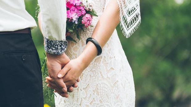 ilustrasi pernikahan modern