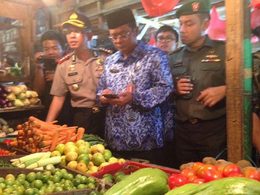 Sidak Sembako di Pasar Senen, Polisi Siap Tindak Tegas Tengkulak