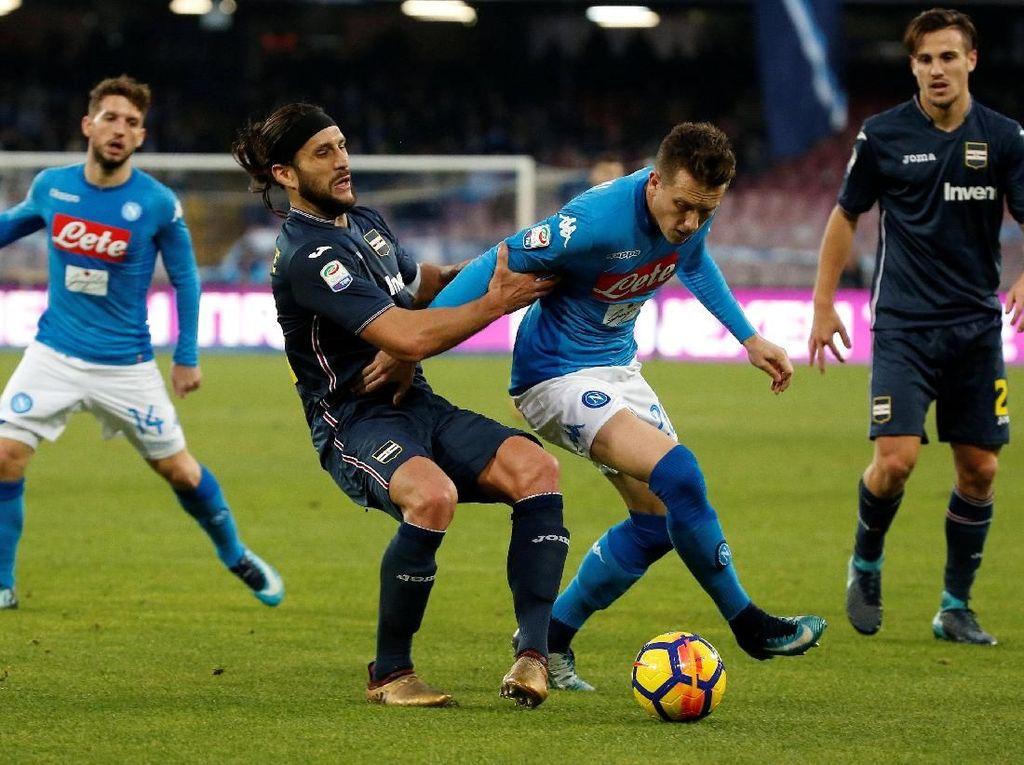 Kalahkan Sampdoria, Napoli Kukuh di Puncak Klasemen Liga Italia