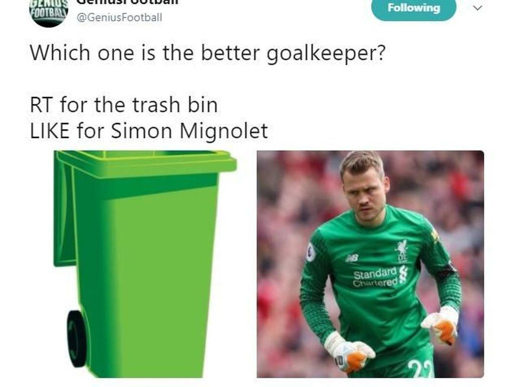 Sadis! Netizen Samakan Kiper Liverpool dengan Tong Sampah