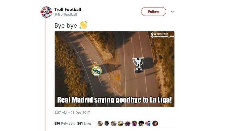 Dipecundangi  Barca, Madrid Dihajar Meme