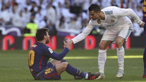 Persaingan Cristiano Ronaldo dengan Lionel Messi bisa makin sengit jika Real Madrid bertemu Barcelona di perempat final.