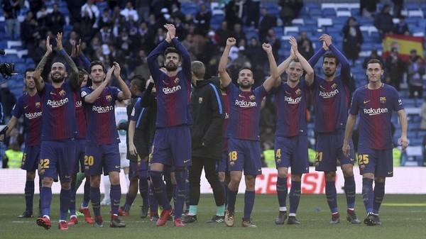 Di La Liga, Barcelona Ukir Hat-trick Kemenangan di Bernabeu