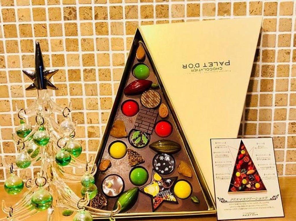 10 Kreasi Cokelat dan Kue Cantik Bertema Natal