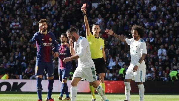 Lagi, Pemain Madrid Diganjar Kartu Merah di El Clasico