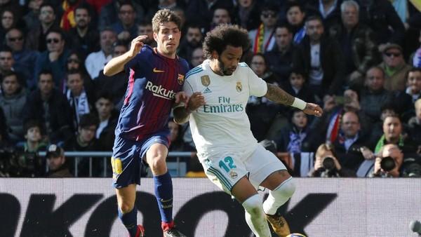 Soal Kartu Merah, Marcelo: Lawan Barcelona dengan 11 Pemain Saja Sudah Susah