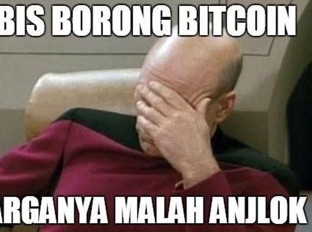 Meme Bitcoin Anjlok Bikin Ngakak