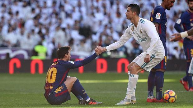 Total gol Messi dan Ronaldo saat usia 20 tahun kalah jauh dari Mbappe.