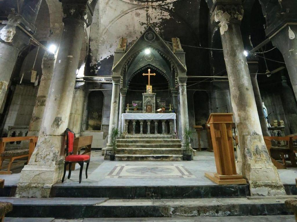 Foto: Suasana Natal di Gereja Irak yang Sempat Dibakar ISIS