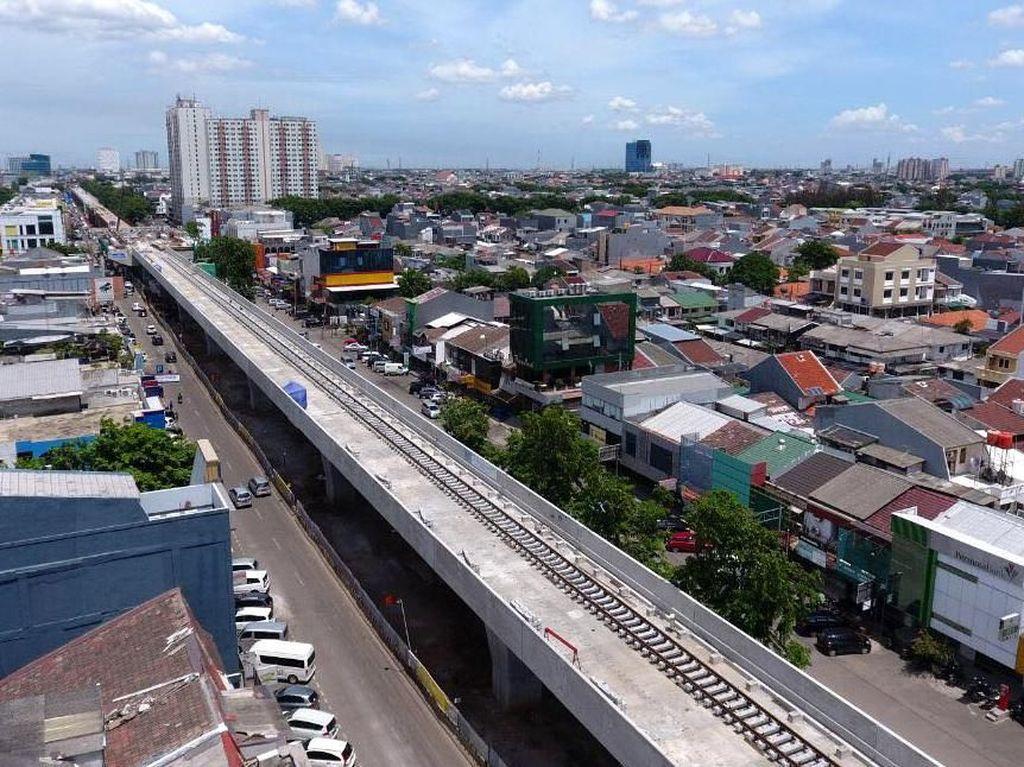 Melihat Proyek LRT Jakarta Velodrome-Kelapa Gading di Penghujung 2017