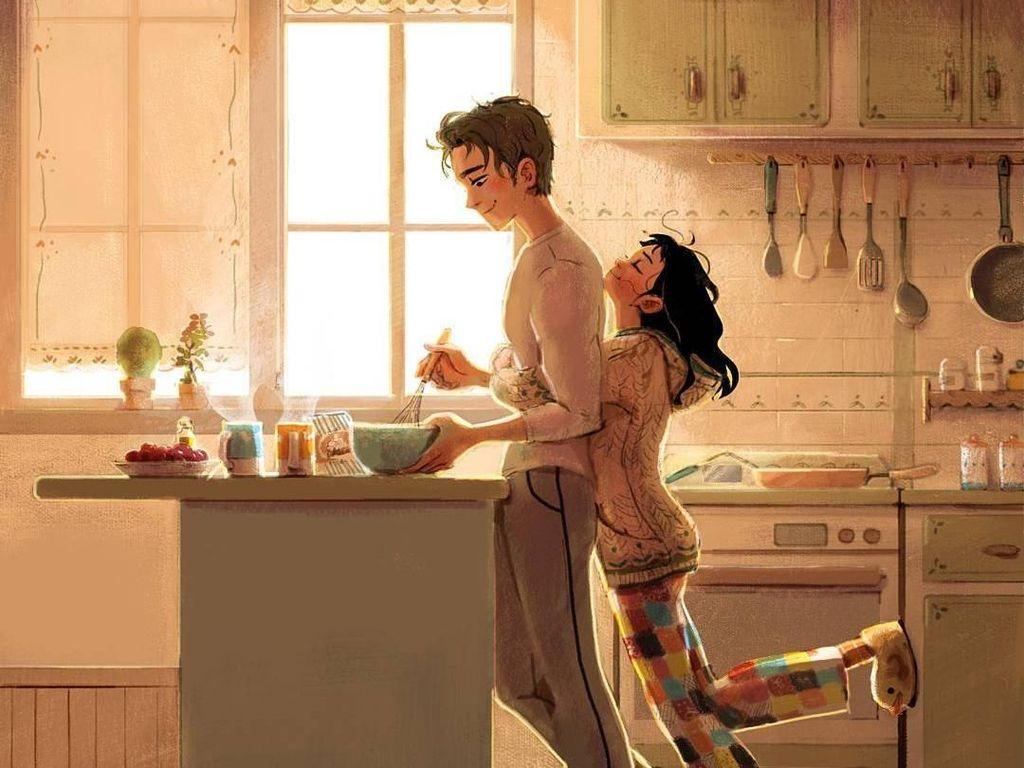 8 Ilustrasi Sederhana Ini Bikin Pasanganmu Makin Jatuh Cinta dan Lengket