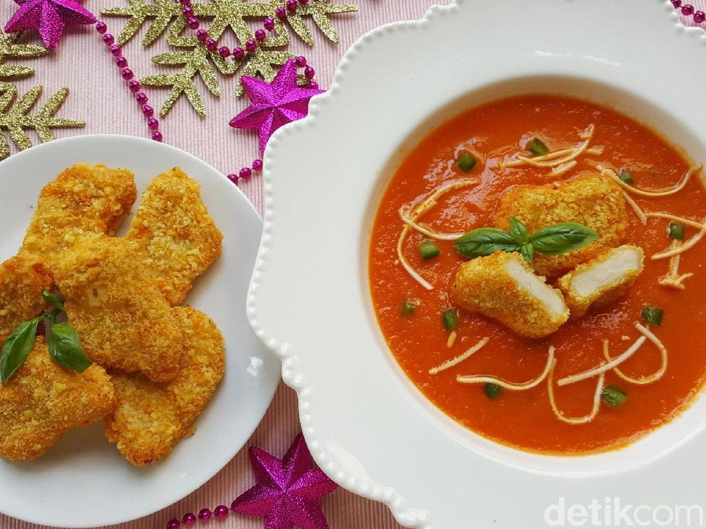 Resep Sup: Creamy Tomato Soup with Fiesta Nugget