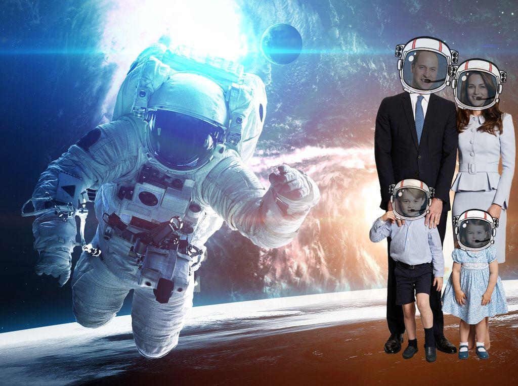Ketika Foto Natal Keluarga Pangeran William Diedit Pakai Photoshop