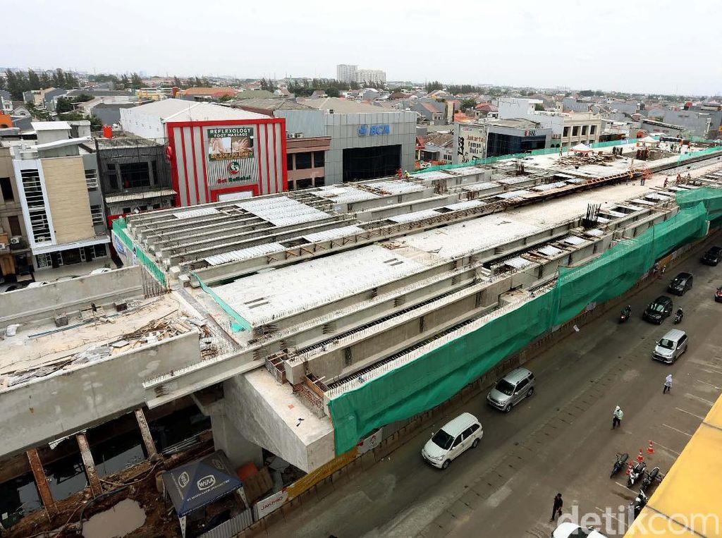 Progres Terkini Pembangunan LRT Jakarta