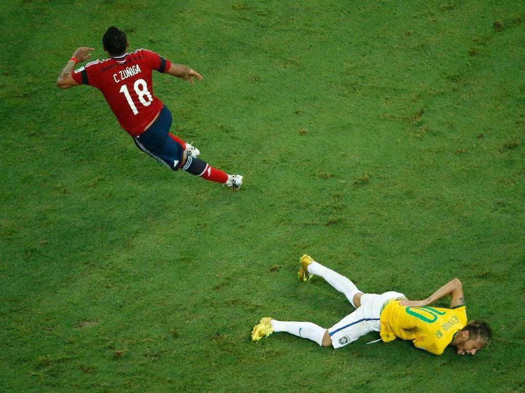 Neymar yang Nyaris Lumpuh di Piala Dunia 2014