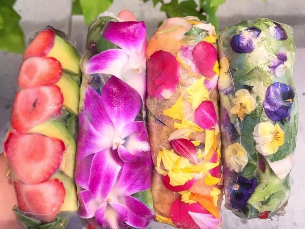 Yummy! Yuk Cobain Spring Roll Vietnam Isi Bunga Cantik Ini