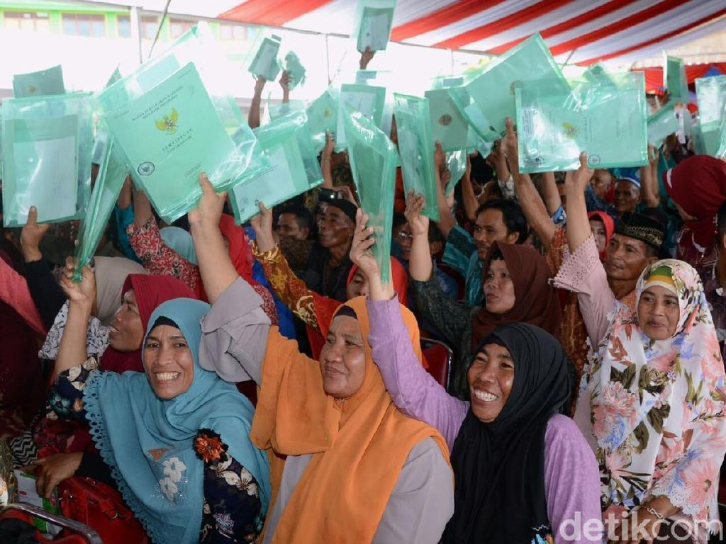 5.950 Sertifikat Tanah Warga Lampung Dibagikan Secara Virtual