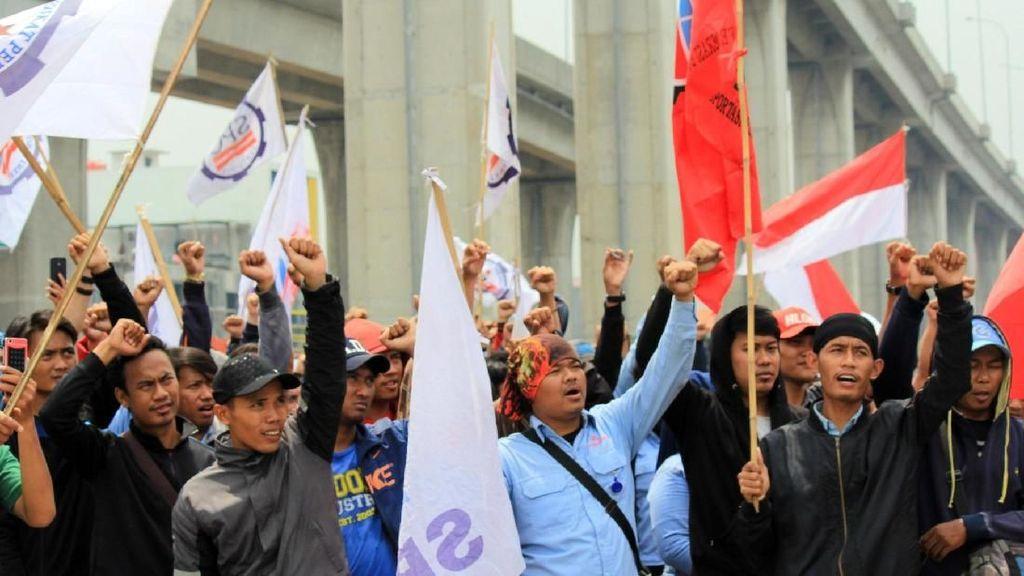 Aksi Serikat Pekerja Container di JICT