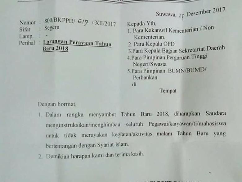 Alasan Syariat Islam, Pemkab di Gorontalo Larang Perayaan Tahun Baru
