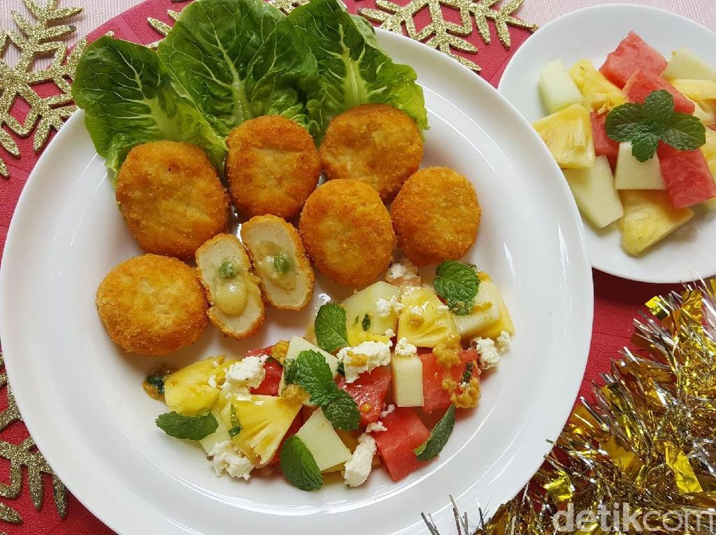 Resep Salad: Fruit Salad with Feta Cheese and Fiesta Mixed Vegetables