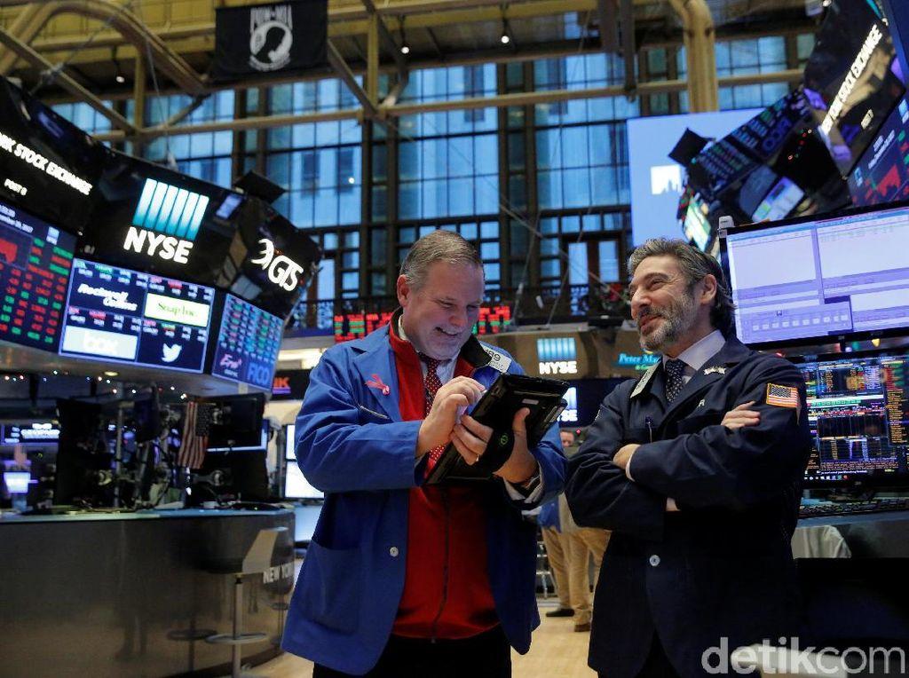 Wall Street Ditutup Berotot Berkat Sentimen Stimulus COVID-19