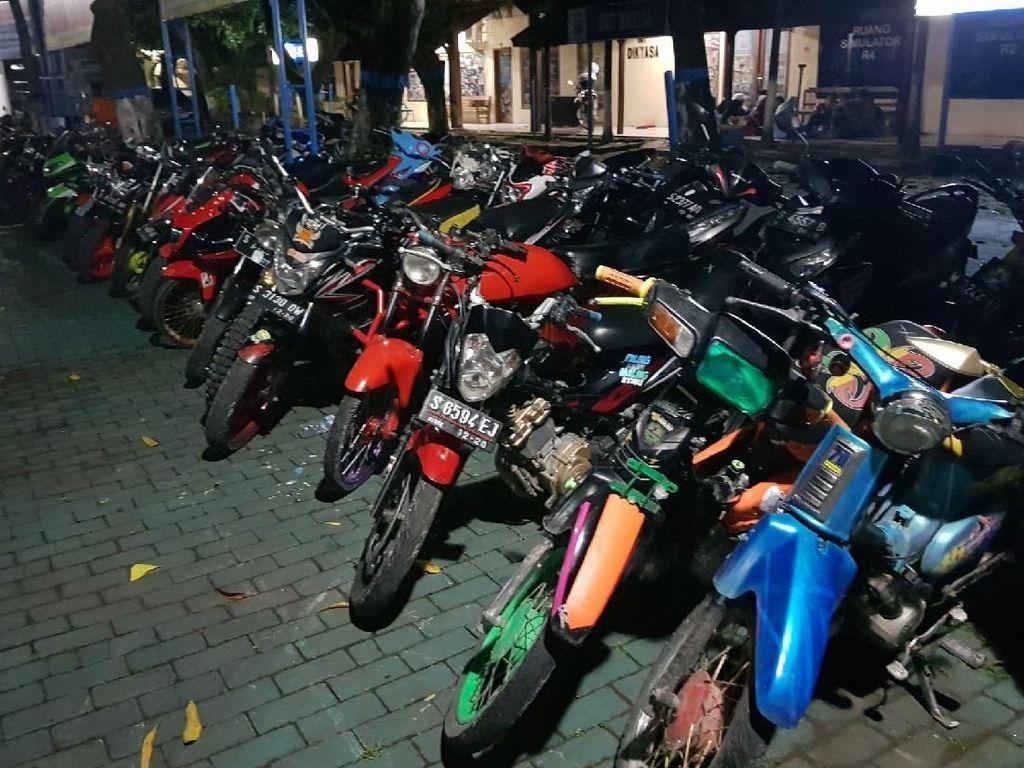 Razia di Bojonegoro, Polisi Amankan 45 Motor Berknalpot Brong