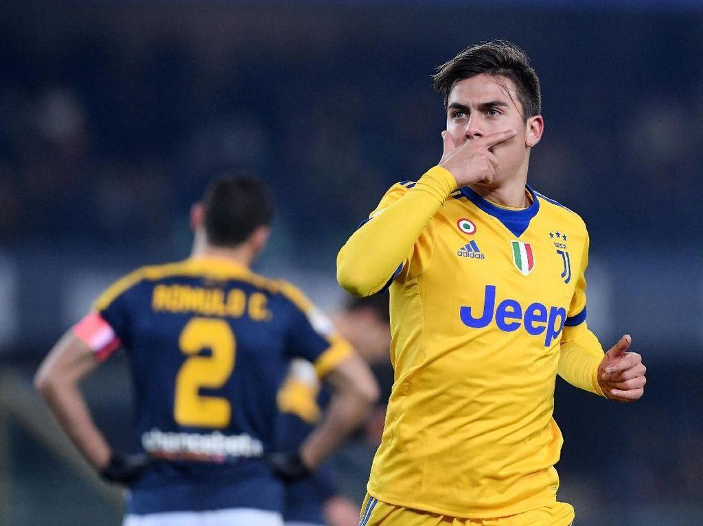Dybala Dua Gol, Juventus Kalahkan Verona 3-1