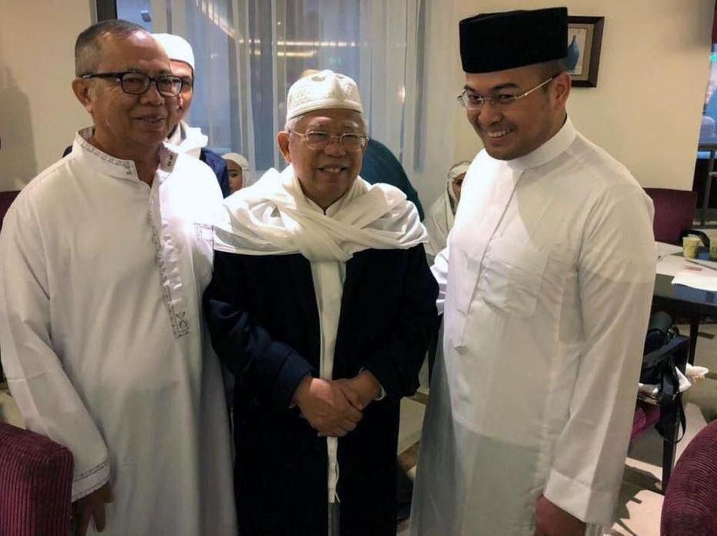 Bertemu di Madinah, Wawan Minta Doa Maaruf Amin untuk Pilgub Sumsel