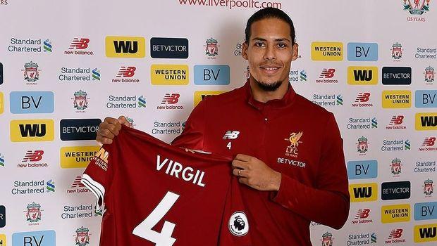 Virgin van Dijk resmi berseragam Liverpool
