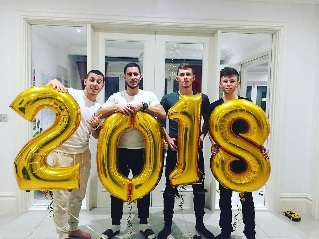 Foto: Cara Pesepakbola Dunia Menyambut Tahun Baru 2018