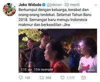 Jokowi: Selamat Tahun Baru 2018, Menuju Indonesia Makmur Berkeadilan
