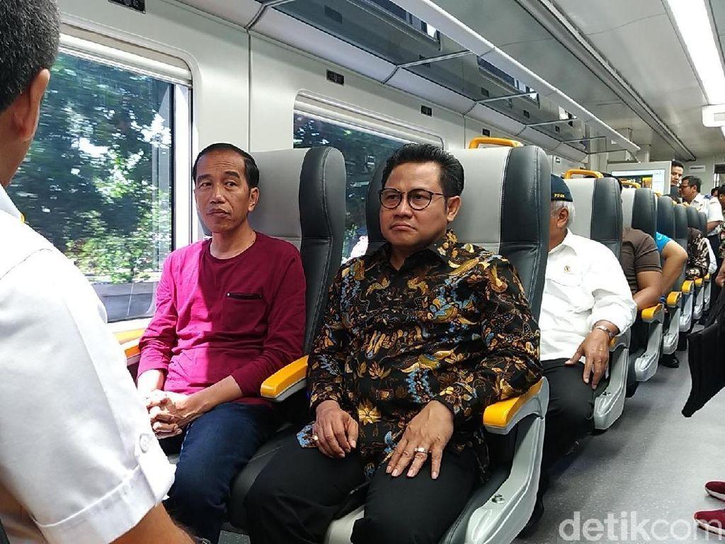 Video: Kala Cak Imin Temui Jokowi di Peresmian Kereta Bandara