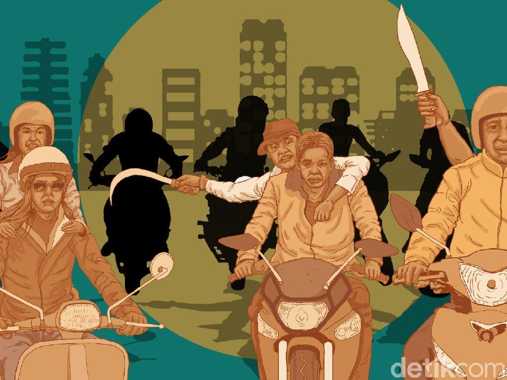 Polisi Cek CCTV Terkait Rusuh Geng Motor di Fatmawati