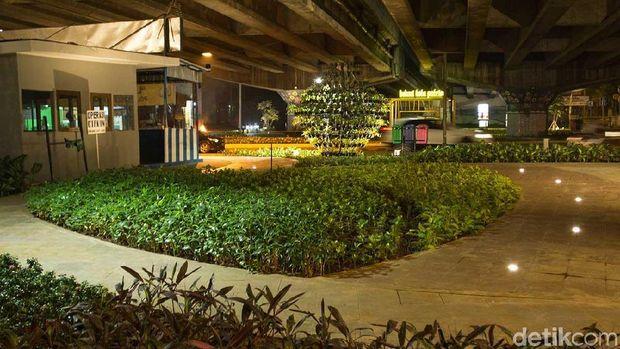 Taman cantik di bawah Flyover Jatiasih (Randy/detikTravel)
